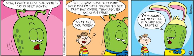 Strip 320: Too Many Holidays