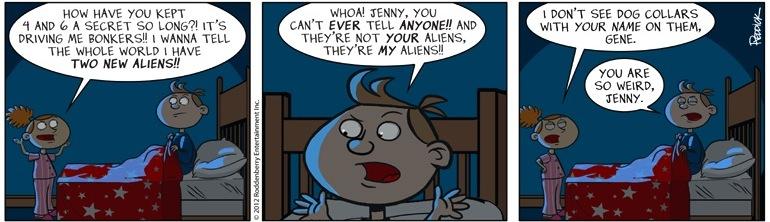 Strip 528: MY Aliens