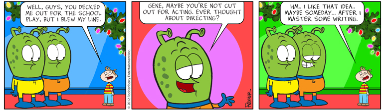 Strip 622: Birth of a Writer