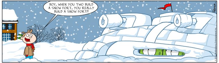 Strip 629: Snow Fort